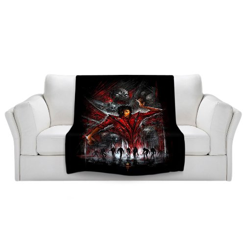 DiaNoche Designs DiaNoche Fleece Blankets Soft Fuzzy 4 Sizes by Alex Ruiz - The Thriller Michael Jackson - Toddler 40