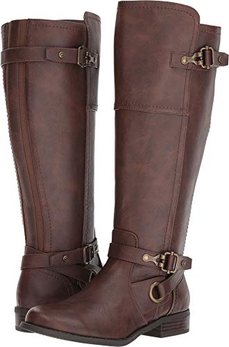 G by GUESS Women's Harvest Wide Calf Brown 7.5 M US M ()