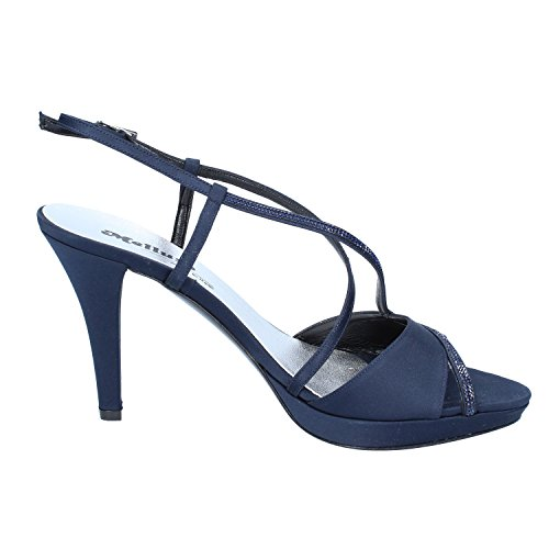 MELLUSO Sandali Donna 39 EU Blu Raso/Cristalli Swarovski