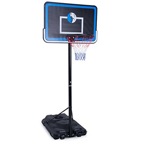Giantex Height Adjustable Portable Basketball System with Wheels Hoop Stand, 43″ Backboard Kids Junior – Sports Center Store