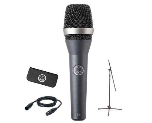 AKG Pro Audio Stage Pack D5 Vocal Dynamic Microphone, Super-Cardiod by AKG Pro Audio