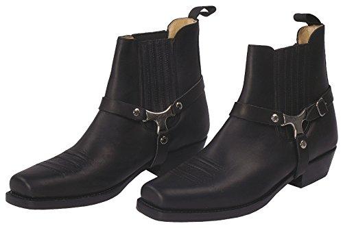 SANCHE Boots Homme Bottines d'équitation Pull herbe Negro Femme Noir