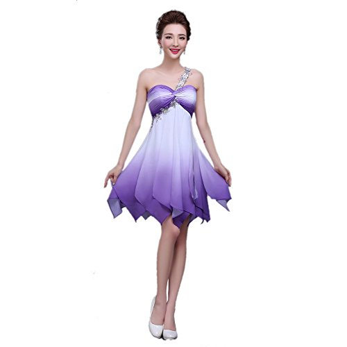 Sweetheart Dance Dresses (Dingang Ruched Chiffon Bridesmaid Dress Short Sweetheart Cocktail Dance Gown)