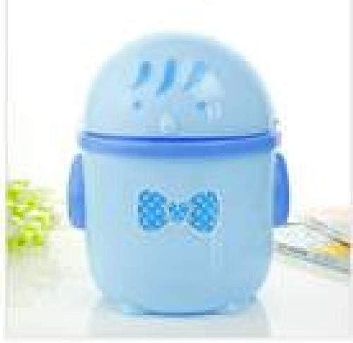 Sinzong Kleiner Milleimer 1Pc Kunststoff Niedlich Mini Kleine Abfallbehälter Desktop Müll T Tisch Home Office Mülleimer Blau