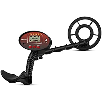 ÖTEK Metal Detector for Adults and Kids with Pinpoint, High Sensitivity, Large Waterproof Coil and Adjustable Wand, Accessories - Including Carrying Bag and ...