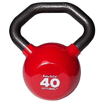 Body-Solid Kettleball 40 lb. Vinilo sumergido pesa rusa con mango en ángulo multi-grip: Amazon.es: Deportes y aire libre
