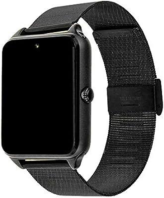 Asseny Men Women Bluetooth Smart Watch Stainless Steel Wristwatch ...