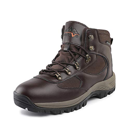 09 Boots - NORTIV 8 Men's Mack_02 Brown Mid Waterproof Hiking Boots Size 9 M US