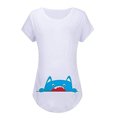 mejor venta procesos de tintura meticulosos rebajas(mk) Mujeres Embarazadas Camiseta Imprimir Ropa Divertida de ...