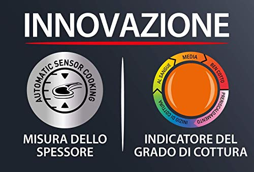 Rowenta GR722D Optigrill+ XL Bistecchiera Intelligente con 9 Programmi di Cottura Automatici, Nero / Argento 48x37… 5