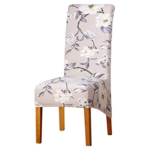 (JONARO 4 pcs Pieces Long Back Chair Cover Printed Wedding Chair Covers Dining Christmas Decorations for Home)