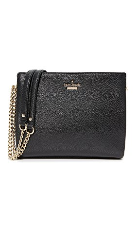 kate spade new york Emerson Place Smooth Mini Convertible Phoebe Cross Body Bag, Black, One Size