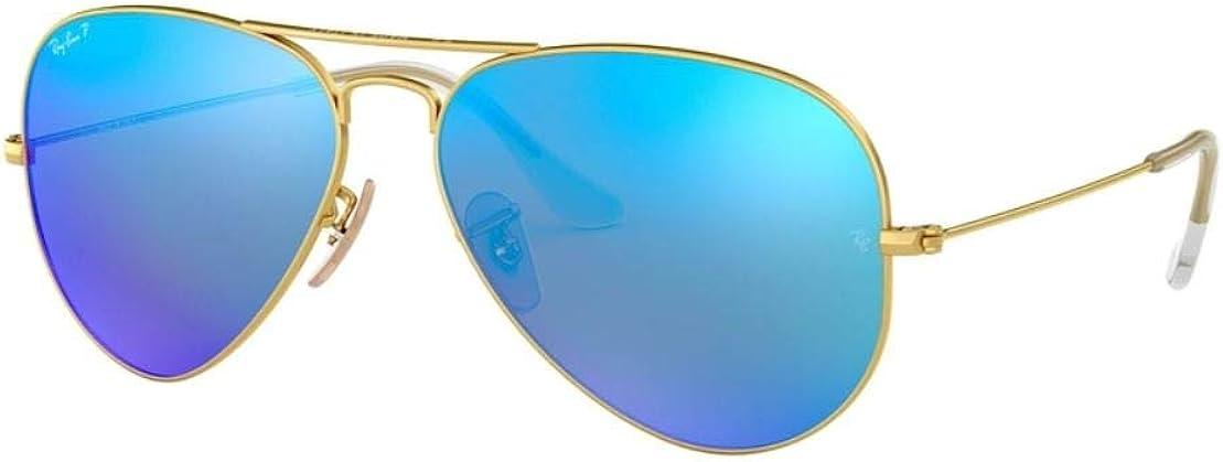 ray ban aviator blue mirror polarized