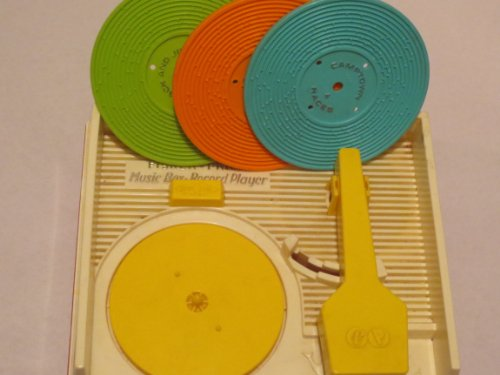 VINTAGE -- Fisher Price Music Box Record Player -- as shown with 4 records ()