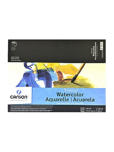 Montval 100511055 Acid-Free Cold Press Watercolor Paper, 140 lb., 18