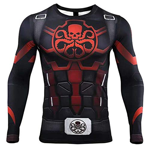 HIMIC E77C Hot Movie Super Hero Quick-Drying ElasticT-Shirt Costume (XX-Large,Skull)