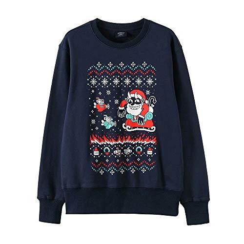 Greed Land Unisex Mugman Long Sleeve T Shirts Cartoon Pullover Sweatshirt