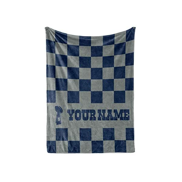 7cc1906c8 Personalized Corner Custom Dallas Cowboys Colors Themed Fleece Throw  Blanket – Gifts for Football Fans Men Women Kids Man Cave Decor Mens Womens  ...