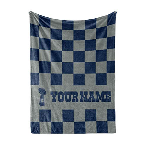 Personalized Corner Custom Dallas Cowboys Colors Themed Fleece Throw Blanket - Gifts for Football Fans Men Women Kids Man Cave Decor Mens Womens Cowboy Apparel (Adult ()