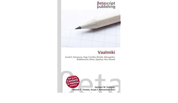 Vaalmiki: Sanskrit, Ramayana, Yoga Vasistha, Balmiki ...