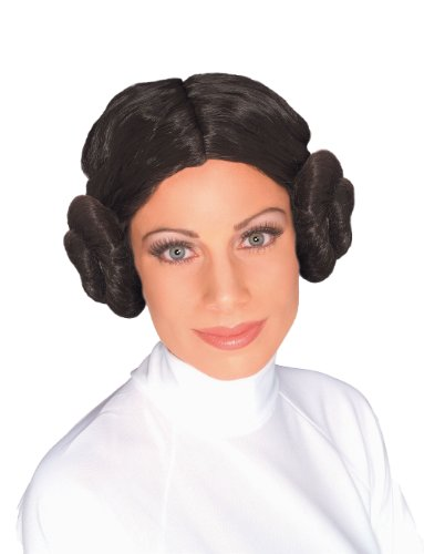 Star Wars Princess Leia Wig, Brown, One Size (Princess Leia Halloween Costumes Adults)