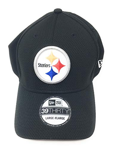 New Era 39Thirty Hat Pittsburgh Steelers 2016 NFL Sideline On Field Black Cap (L/XL)