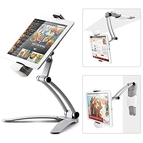 Amazon Com Kitchen Tablet Mount Stand Ikross 2 In 1 Kitchen Wall