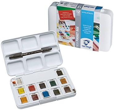 AMI, Van Gogh Juego de Acuarelas 12 Colores de Acuarela y Bloc de Acuarela A4: Amazon.es: Juguetes y juegos