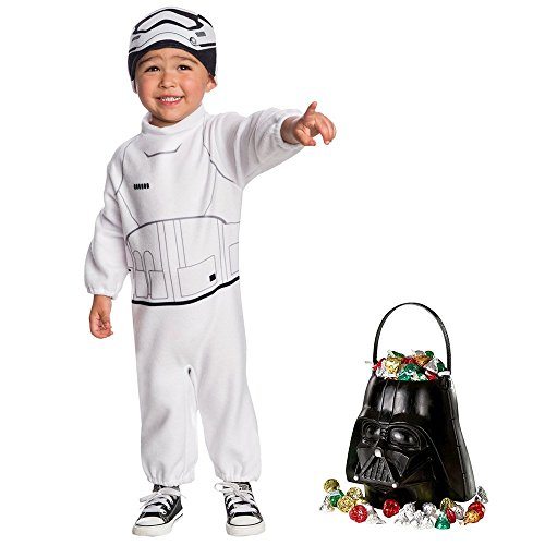 Bb 8 Costume Toddler (Star Wars Episode VII: The Last Jedi - Stormtrooper Toddler Costume and Candy Pail Bundle 2T)