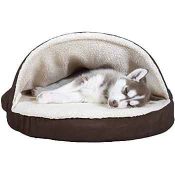 Amazon.com : Snoozer Cozy Cave, Khaki, Small : Pet Beds