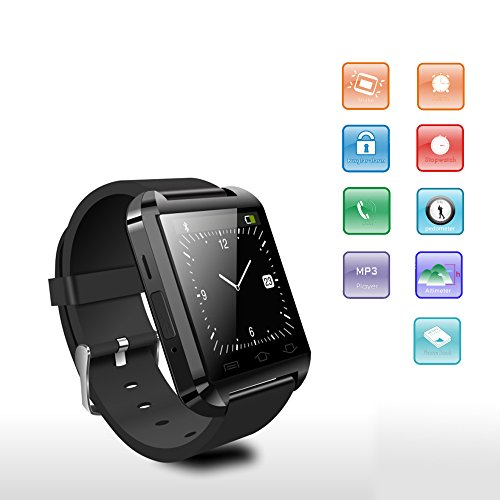SUNDREAMTECH® U8 Bluetooth 3.0 Elegante reloj táctil reloj de pulsera de pantalla para Android IOS Iphone Samsung Galaxy HTC<Principal es para el sistema de ...