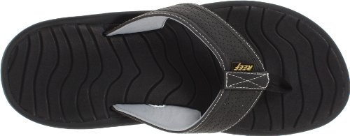 Reef Hombres Swellular Cushion Lux Sandalia Negra
