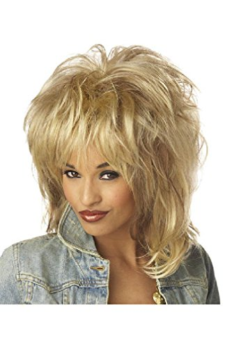 [8eighteen Rockin' Soul Tina Turner Diva Halloween Costume Wig (Blonde)] (Tina Turner Wigs)
