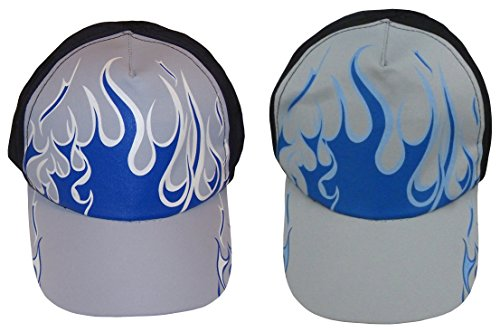 N'Ice Caps Kids Unisex Magical Color Changing Printed Ball Caps (2-3yrs, Flames Color (Childs Ball Cap)