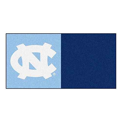 FANMATS NCAA UNC University of North Carolina - Chapel Hill Tar Heels Nylon Face Team Carpet Tiles by Fanmats