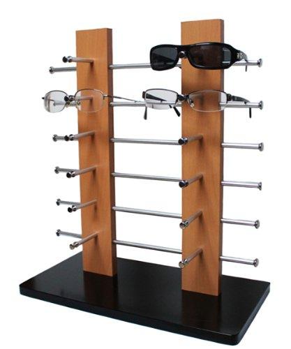 Yudu 121038 - Expositor de gafas (madera, 12 gafas): Amazon ...