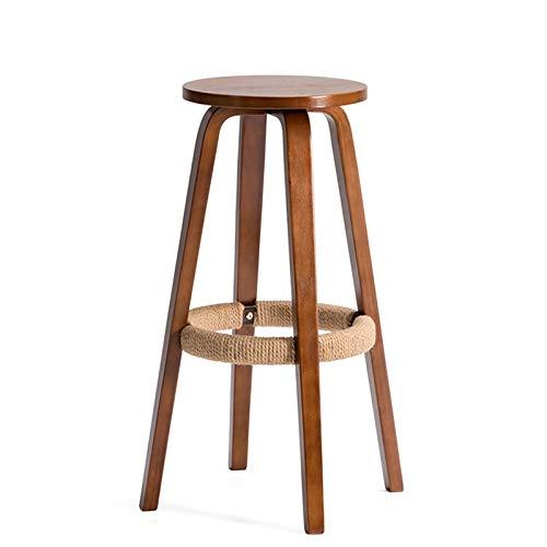 G Wooden Bar Chair Round Bar Stool Bar Chair Coffee Shop Stool Bar Chair (color   G)