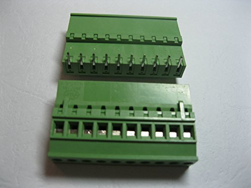 40 Pcs Pluggable Type Angle 12way/pin Pitch 5.08mm Screw Terminal Block Connector Green Color 2EDCD-5.08A-2EDCR