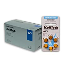 iCellTech Hearing Aid Batteries Size 675 60 Batteries