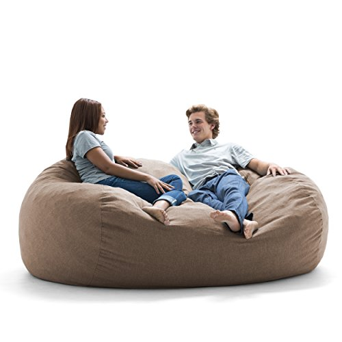 Amazon Com Big Joe Lux Xxl Fuf Foam Filled Bean Bag Chair