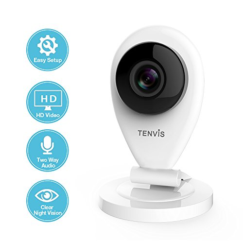 TENVIS IP Camera - Wireless IP Camera Security Camera with Two-way Audio, Night Vision Camera, 720P & 2.4GHZ Pet Baby Monitor Surveillance Camera Motion Detection Indoor Camera with Micro SD Card Slot