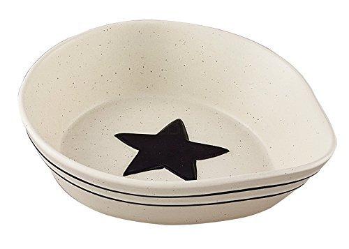 Farmhouse Black and Cream Country Star Spoon Rest, Stoneware