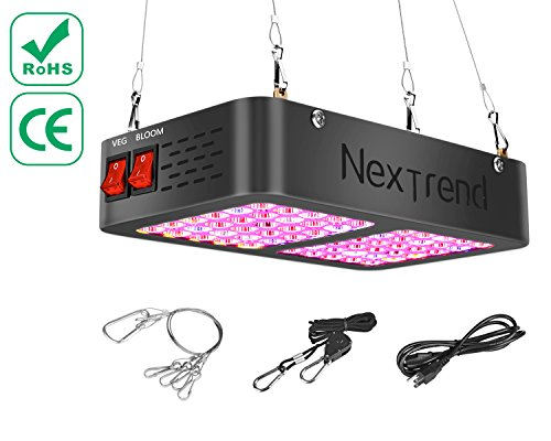 NexTrend LED Grow Light 300W, Double Chips Full Spectrum Grow Lamp Optimal Led 60° COB Reflector For Horticulture Hydroponics Indoor Plants Veg and Flower, Added Daisy Chain Design For Sale