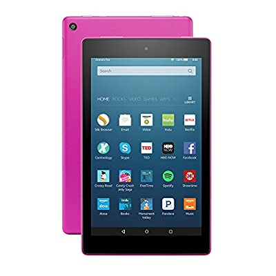 "Fire HD 8 Tablet with Alexa, 8"" HD Display, 16 GB, Magenta - with Special Offers"