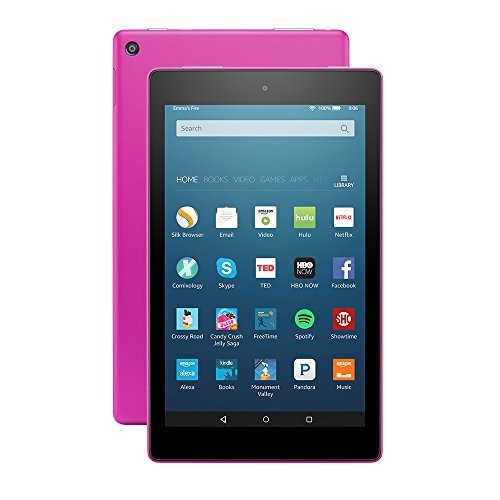 Fire HD 8 Tablet with Alexa, 8″ HD Display, 16 GB, Magenta – with Special Offers (Previous Generation – 6th)