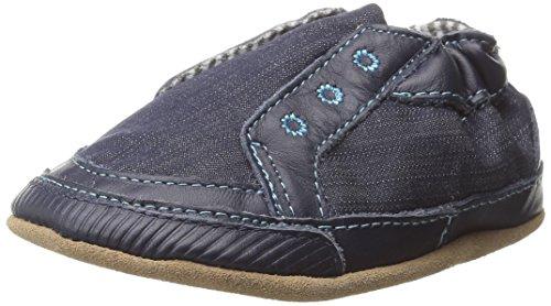 Robeez Stylish Steve Crib Shoe (Infant), Navy, 12-18 Months M US Infant