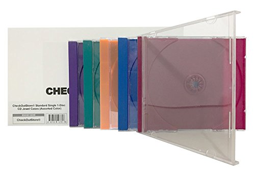 CheckOutStore (25) Standard Single 1-Disc CD Jewel Cases (Assorted Color)