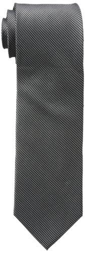 Calvin Klein - Corbata de acero para hombre - negro - X-largo ...