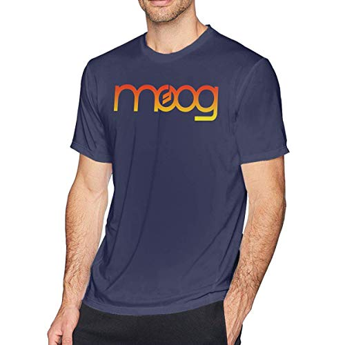 Weiopat O-Neck Fashion Moog Synth Short Sleeve T-Shirt for Mens and Boys Black,Navy,3X-Large