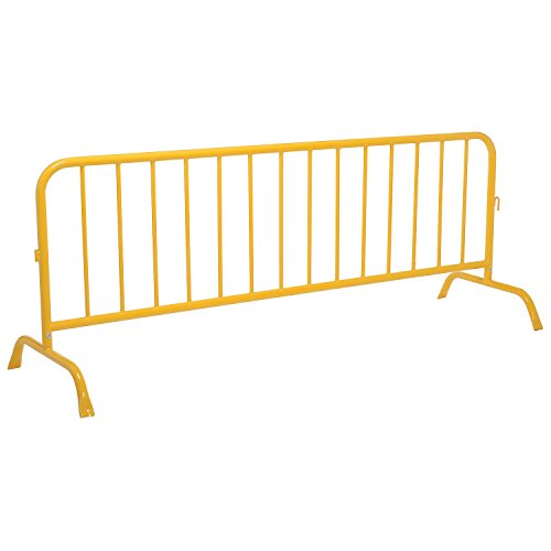 Crowd Control Barrier, Yellow Powder Coated Steel, 102''L x 40''H by Global Industrial